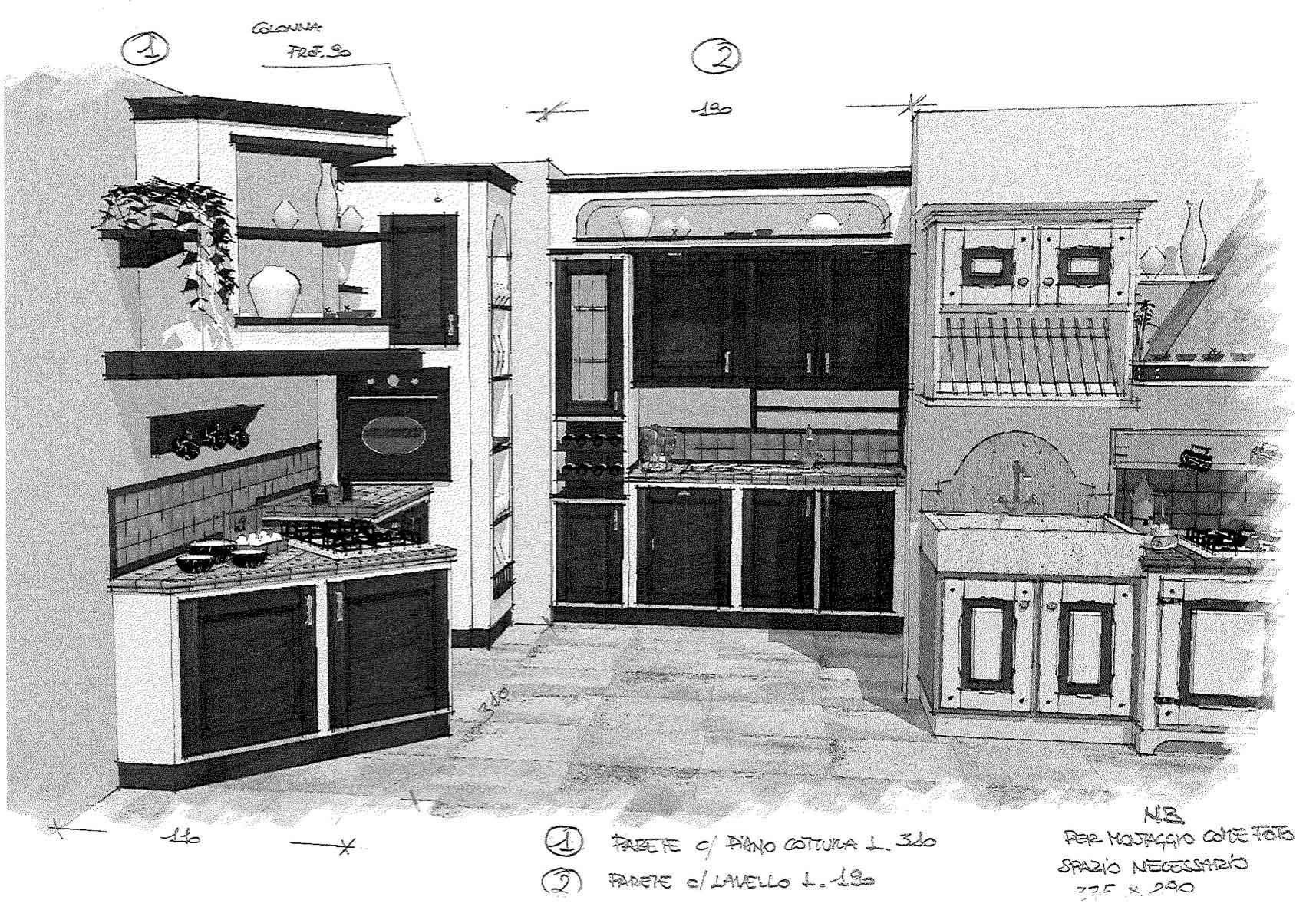 Cucina 2 blocchi bottega dell 39 arte - Liquidazione cucine ...